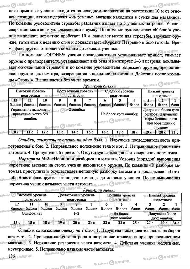 Підручники Захист Вітчизни 11 клас сторінка 136