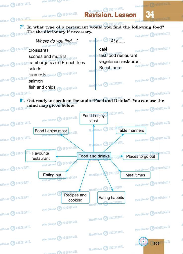 Підручники Англійська мова 7 клас сторінка 103