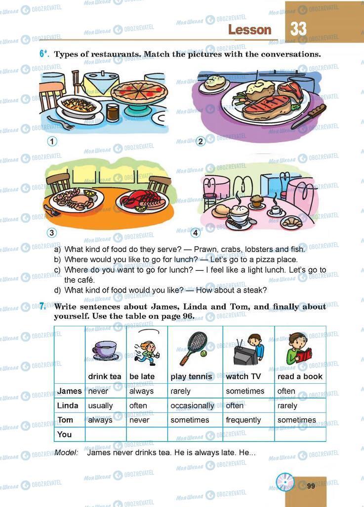 Підручники Англійська мова 7 клас сторінка 99