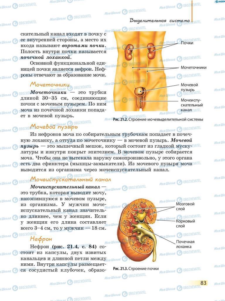 Підручники Біологія 8 клас сторінка 83