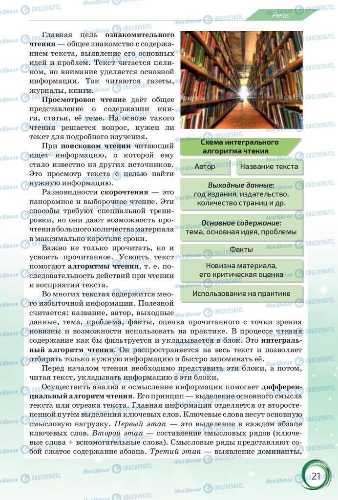 Підручники Російська мова 10 клас сторінка 21