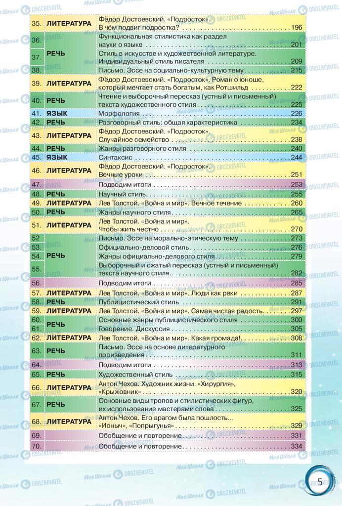 Підручники Російська мова 10 клас сторінка 5