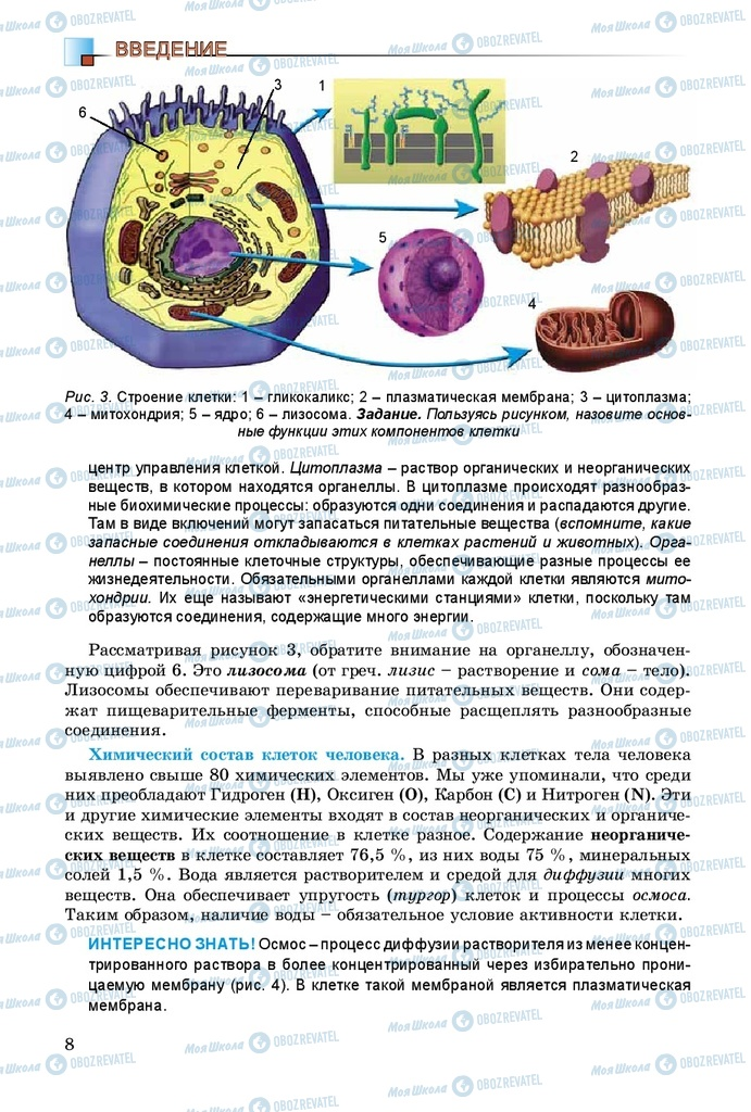 Учебники Биология 8 класс страница 8