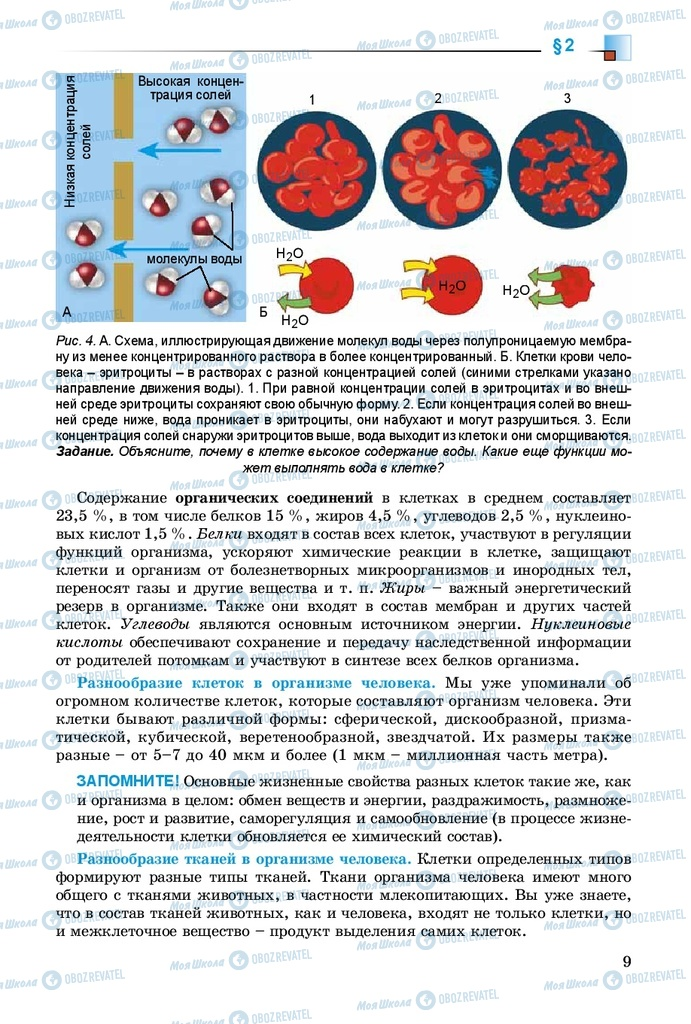 Учебники Биология 8 класс страница 9