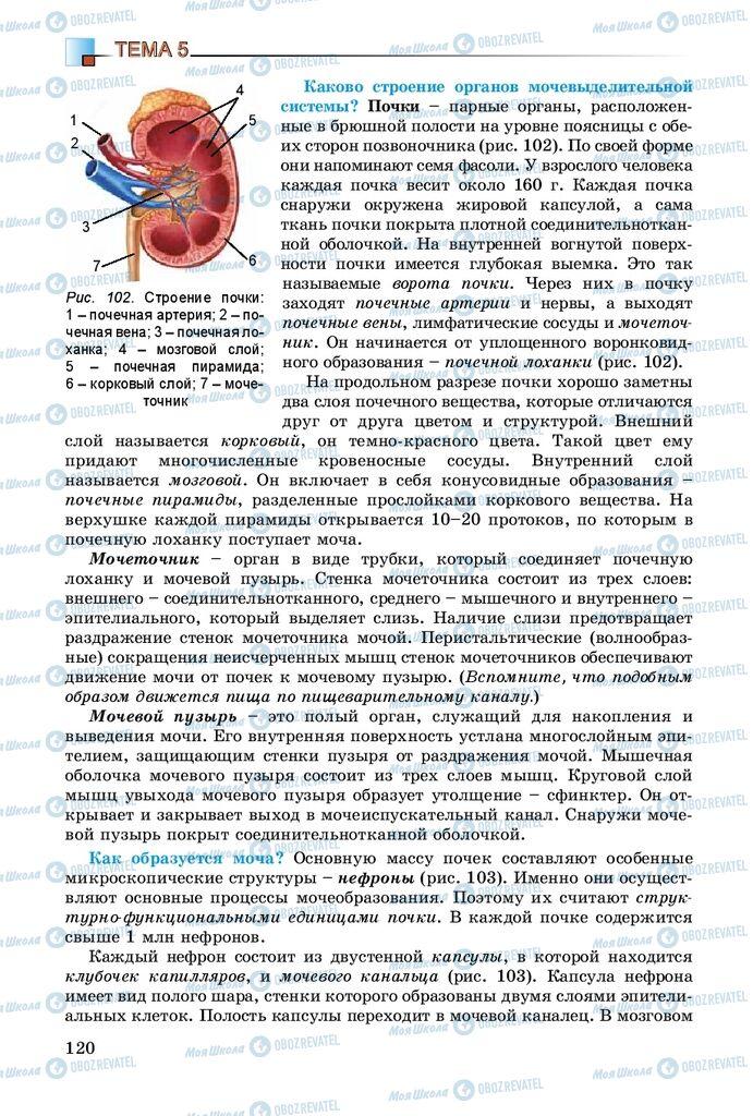 Учебники Биология 8 класс страница 120