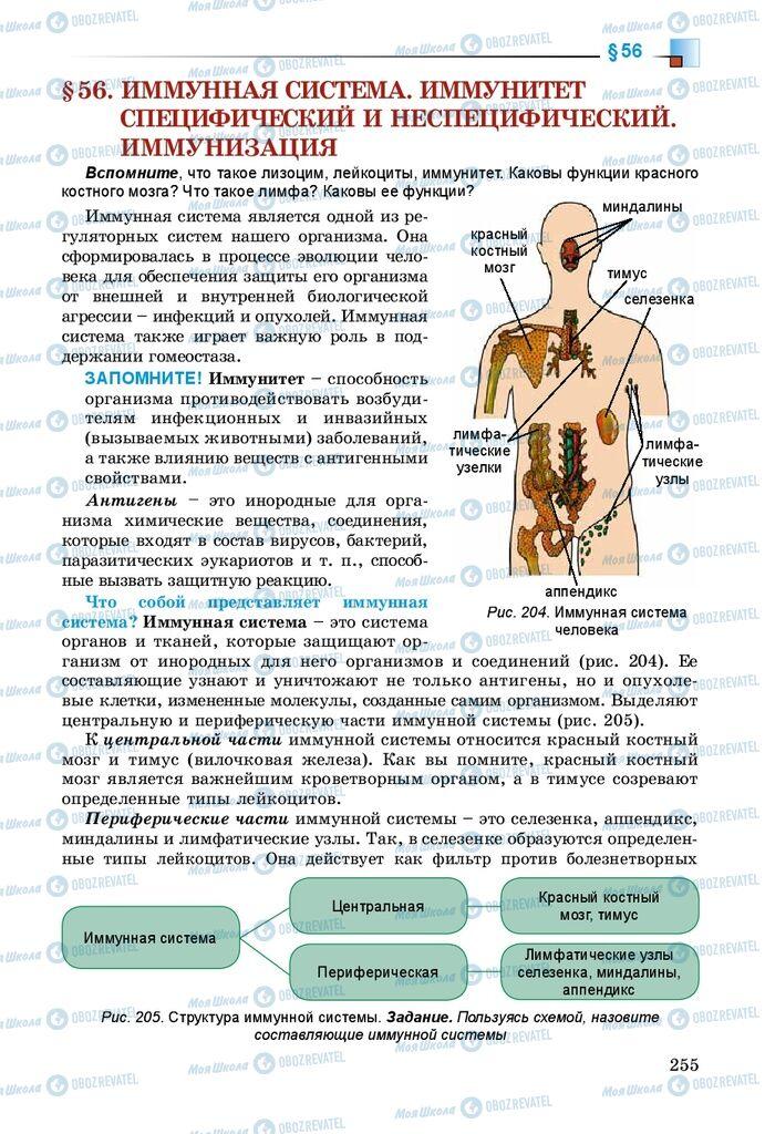 Підручники Біологія 8 клас сторінка 255