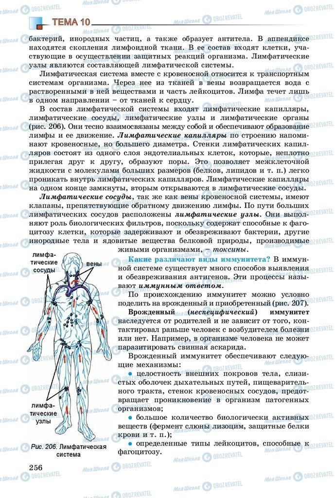 Підручники Біологія 8 клас сторінка 256