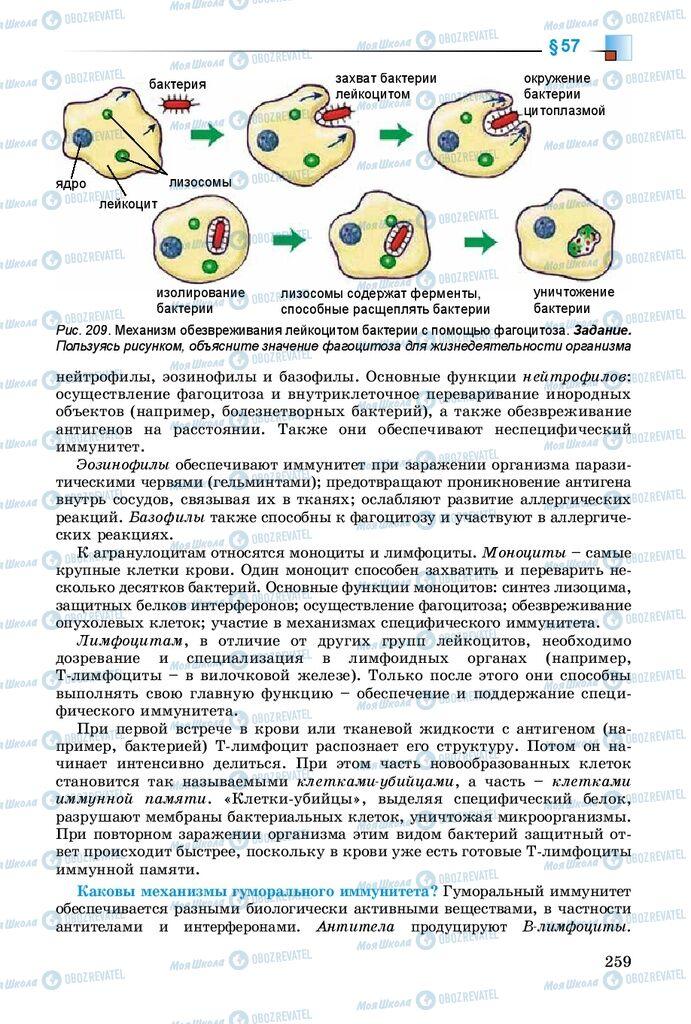 Учебники Биология 8 класс страница 259