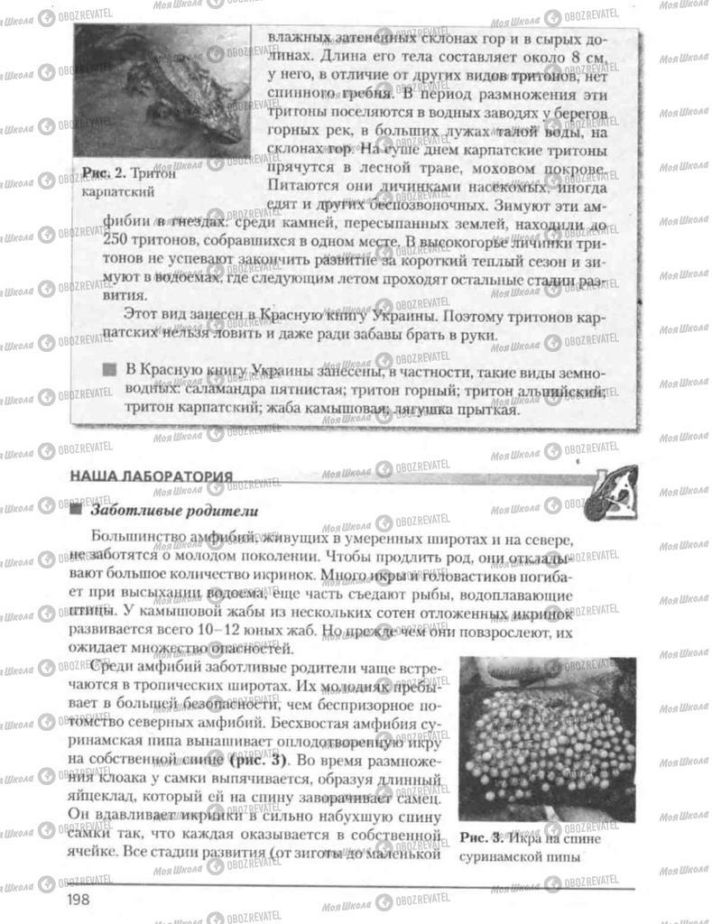 Підручники Біологія 8 клас сторінка 198