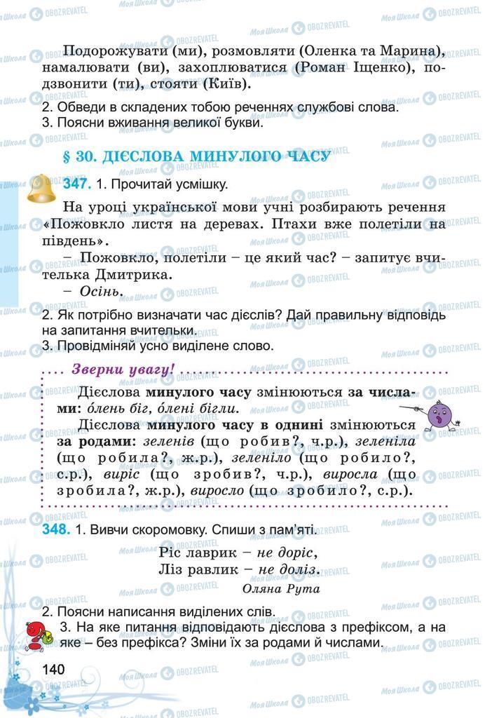 Підручники Українська мова 4 клас сторінка 140