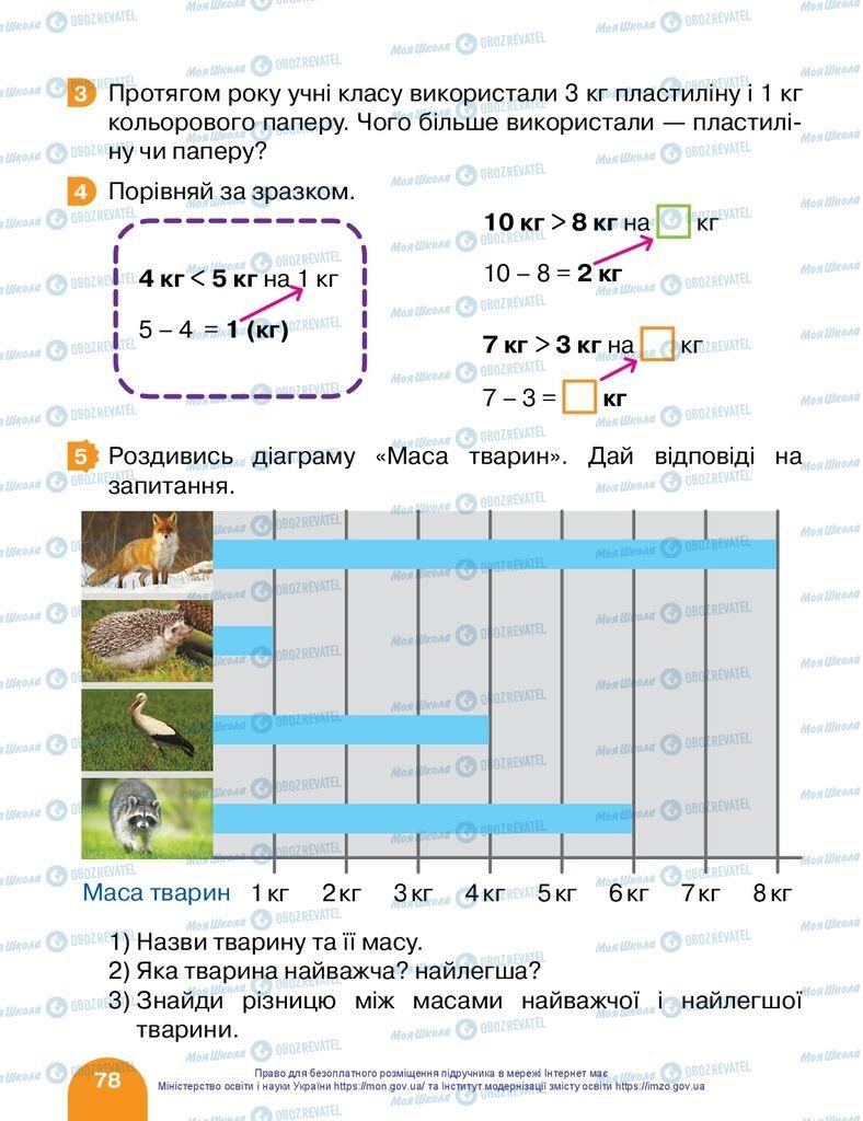 Підручники Математика 1 клас сторінка 78
