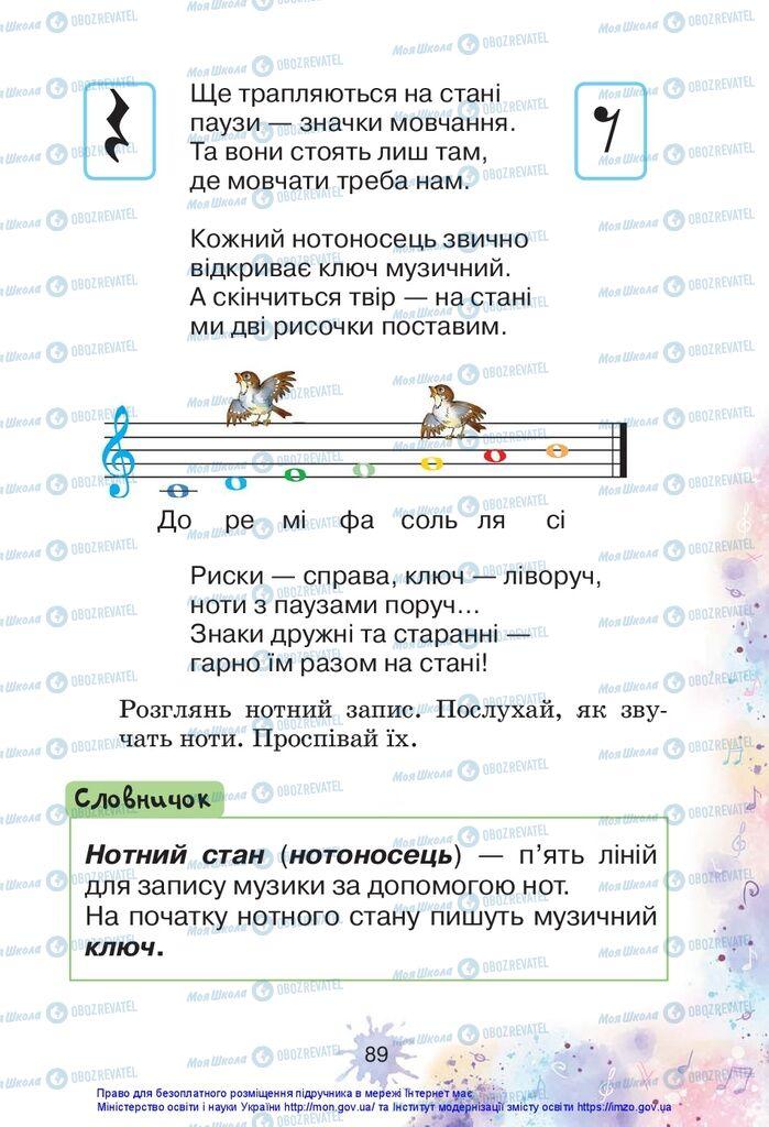 Учебники Изобразительное искусство 1 класс страница 89