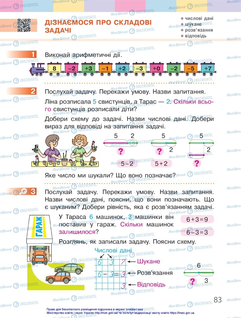 Учебники Математика 1 класс страница 83