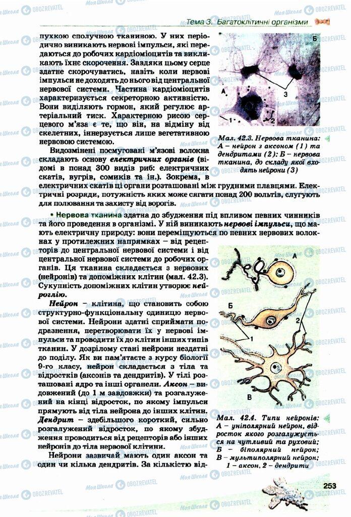 Підручники Біологія 10 клас сторінка  253