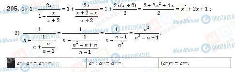 ГДЗ Алгебра 8 клас сторінка 205