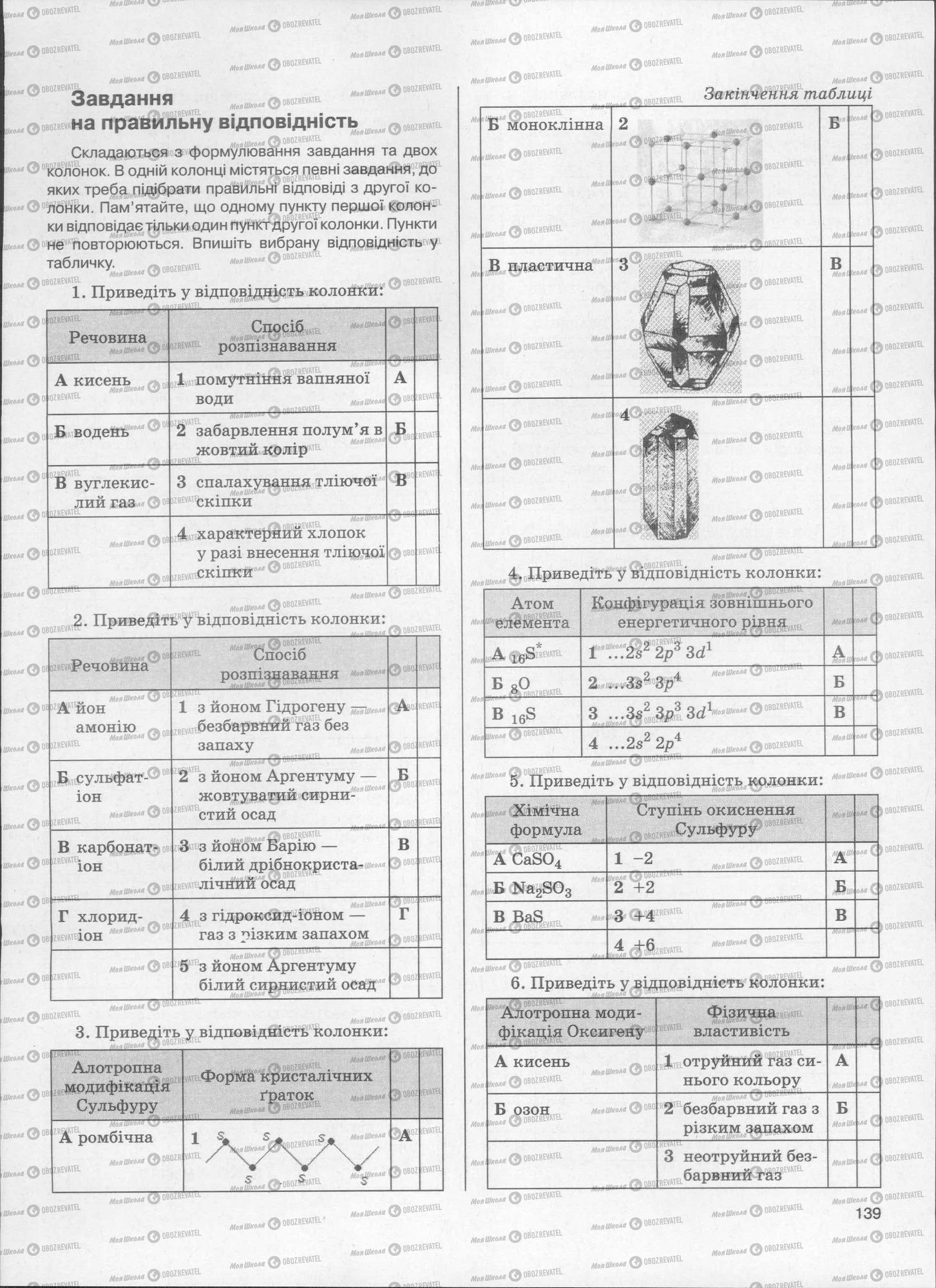 ЗНО Хімія 11 клас сторінка  139