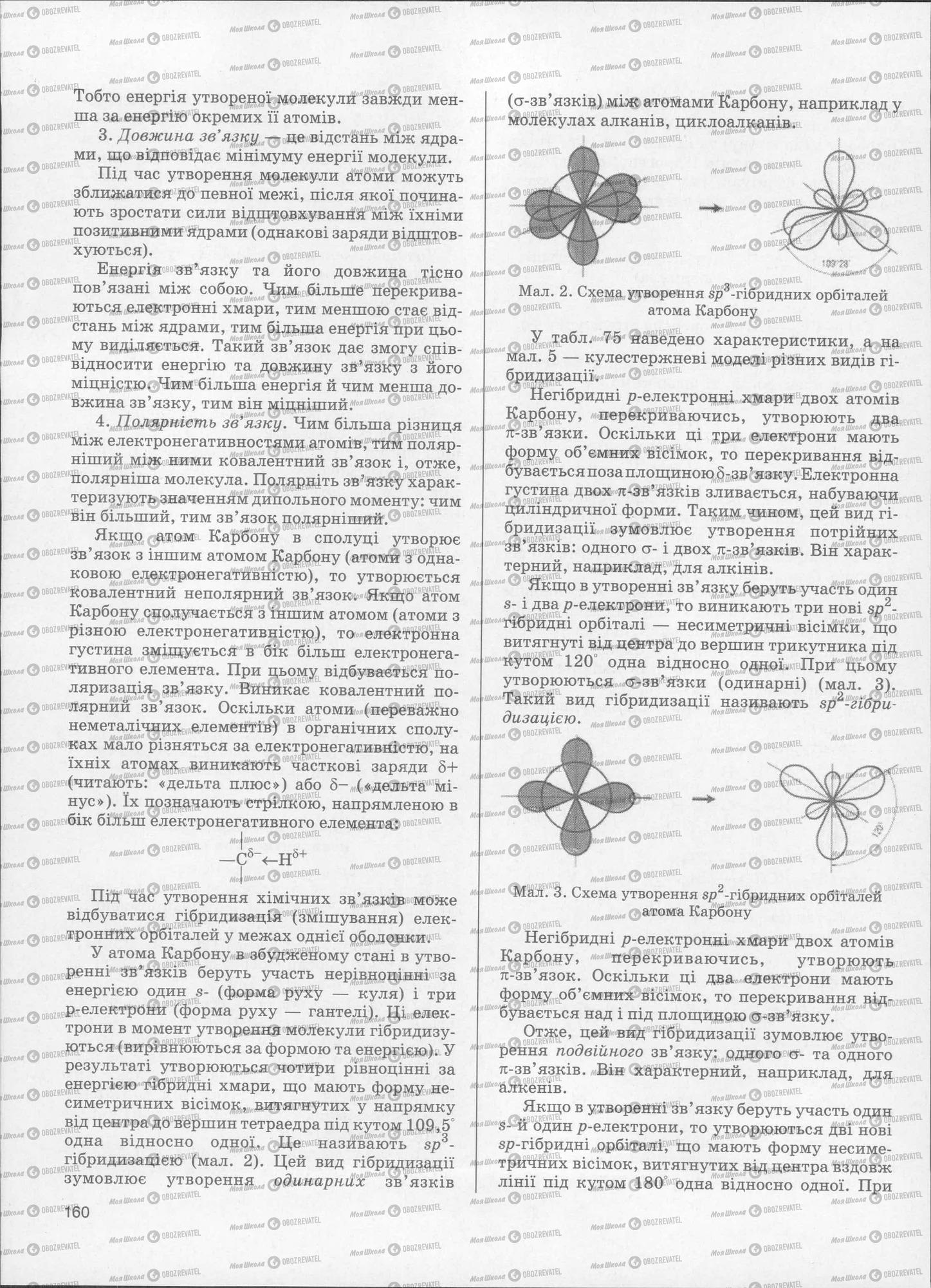 ЗНО Хімія 11 клас сторінка  160