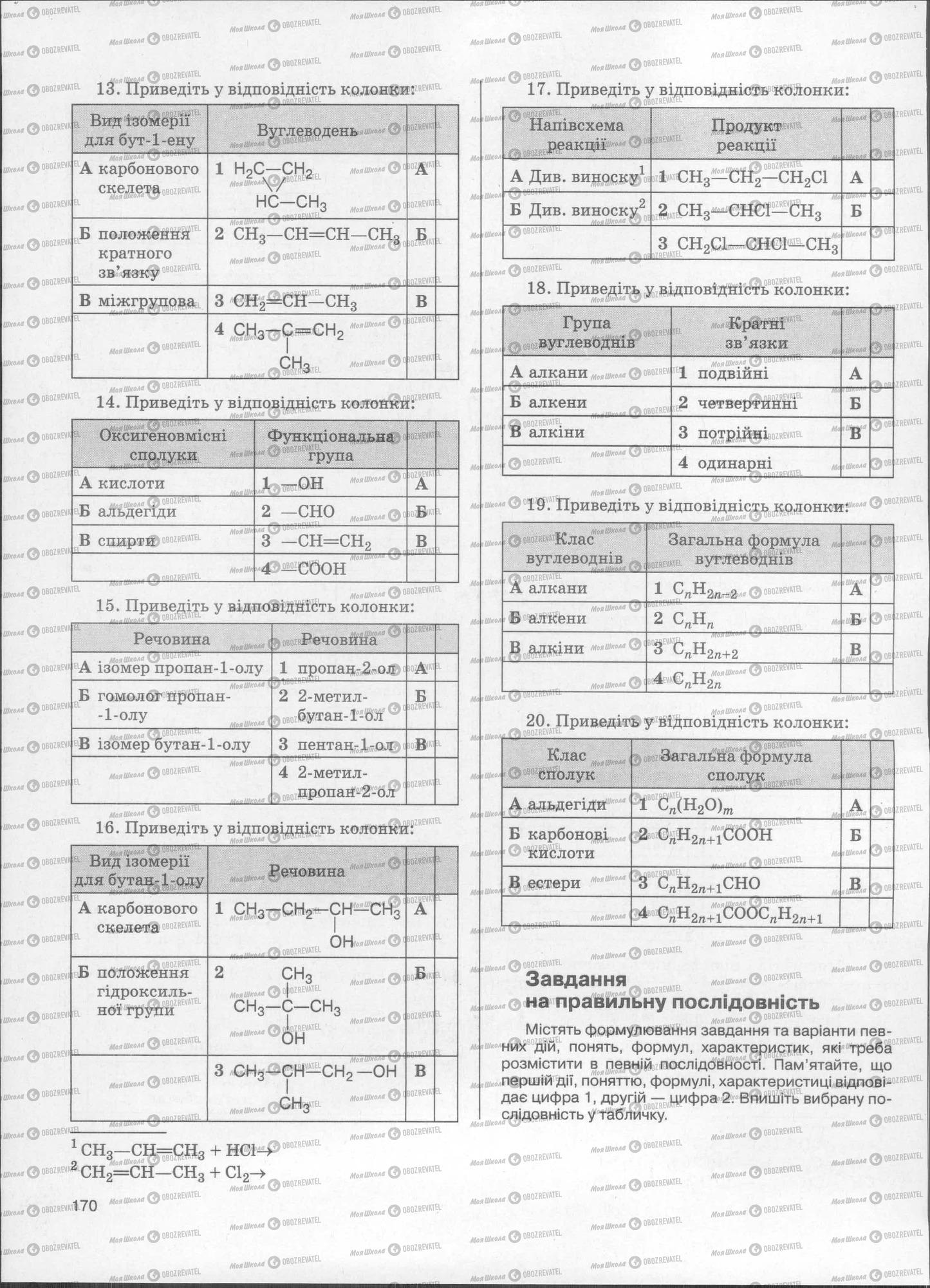 ЗНО Химия 11 класс страница  171