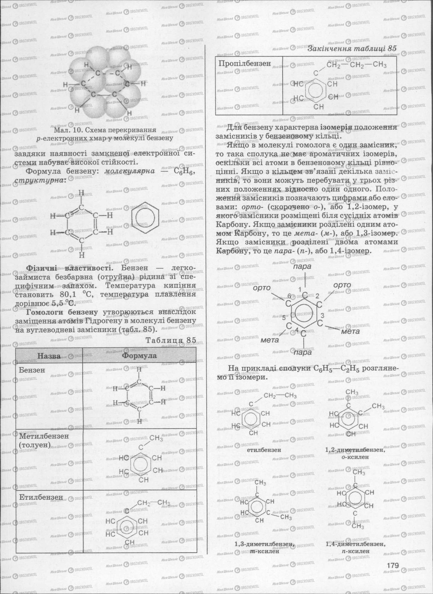 ЗНО Хімія 11 клас сторінка  179