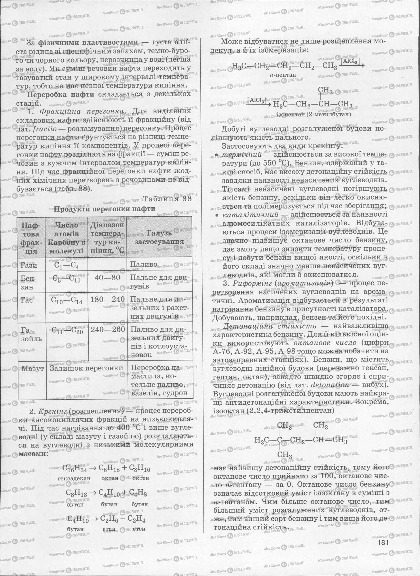 ЗНО Хімія 11 клас сторінка  181
