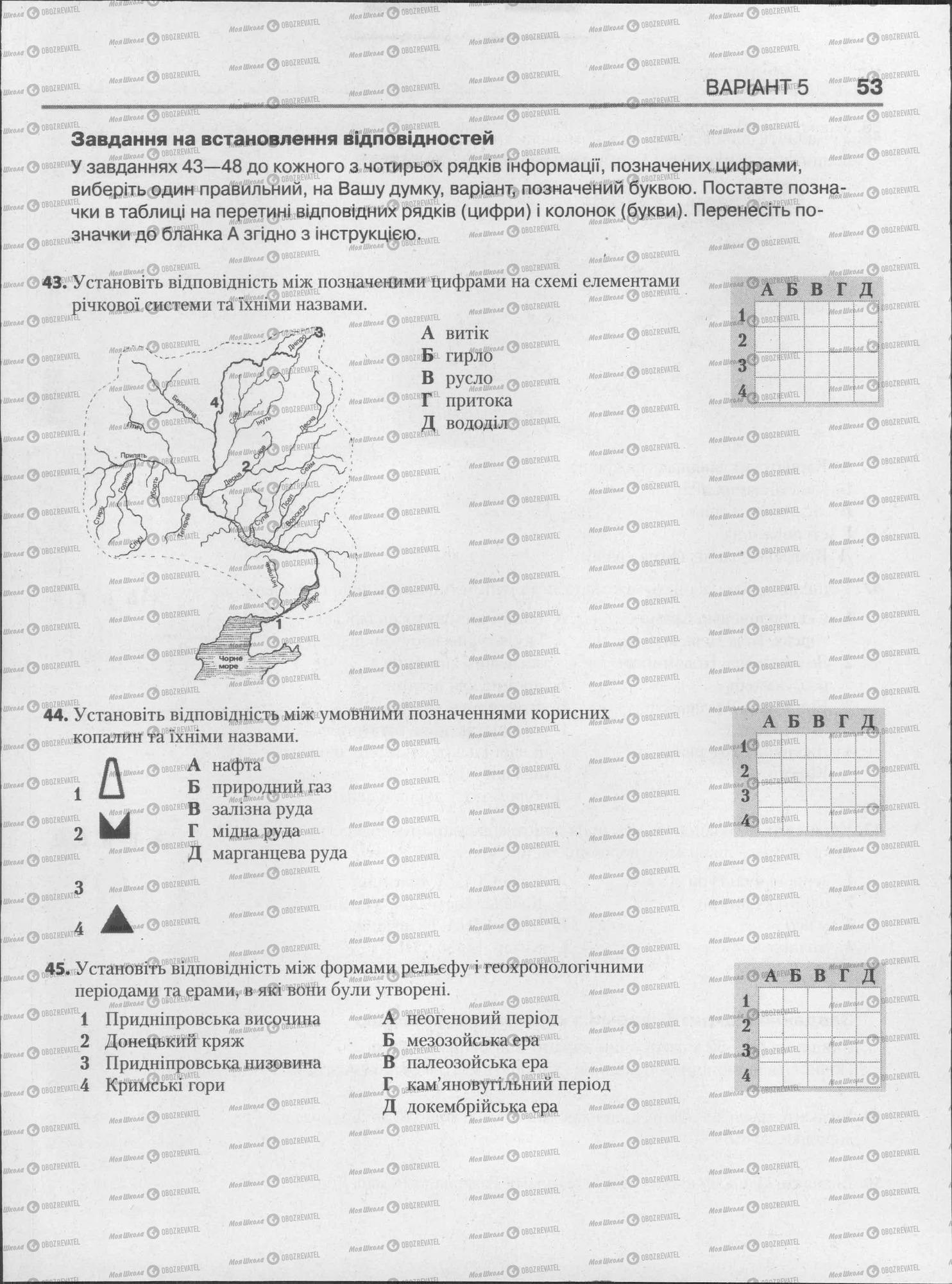 ЗНО Географія 11 клас сторінка  53