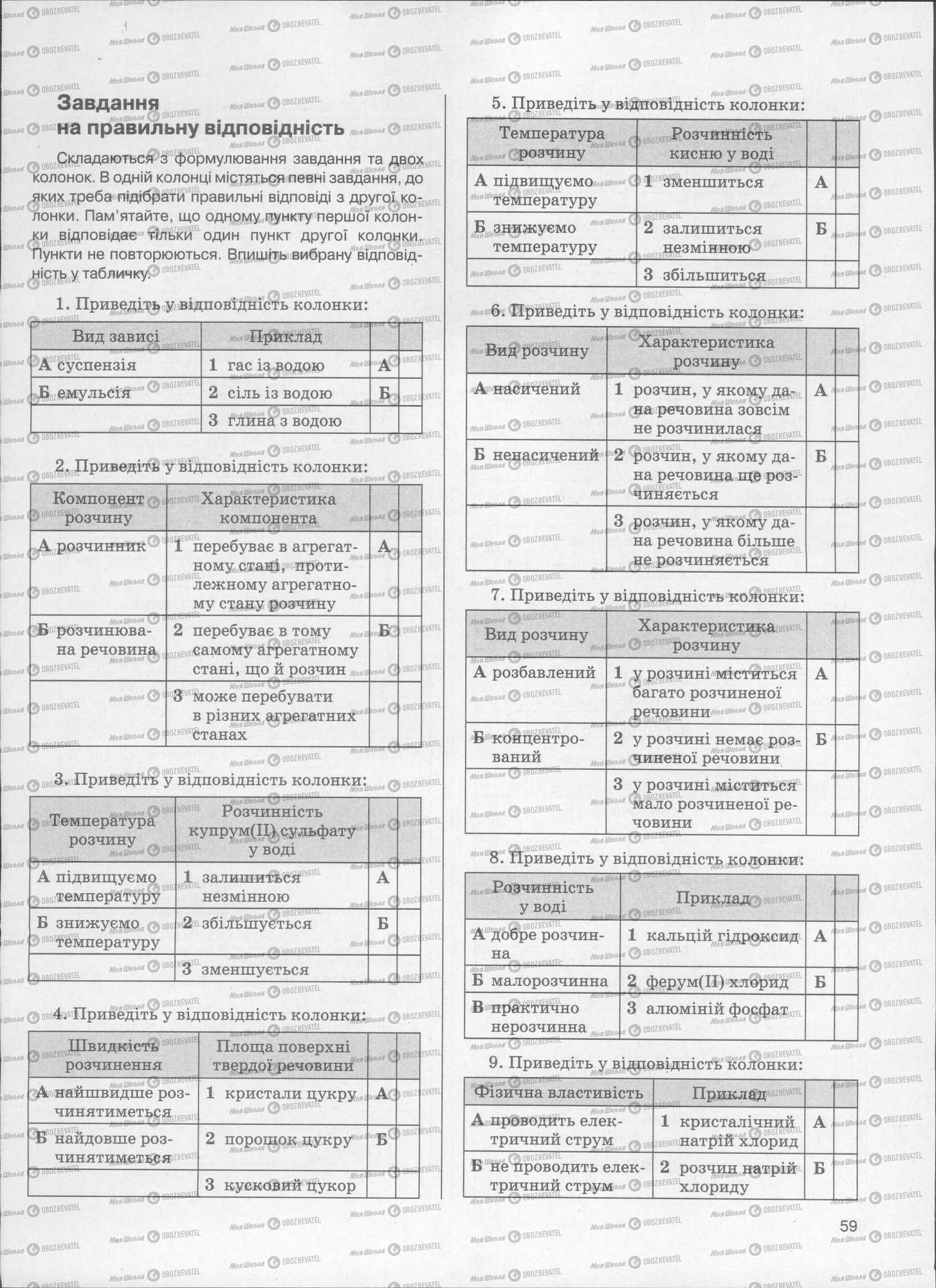 ЗНО Хімія 11 клас сторінка  59