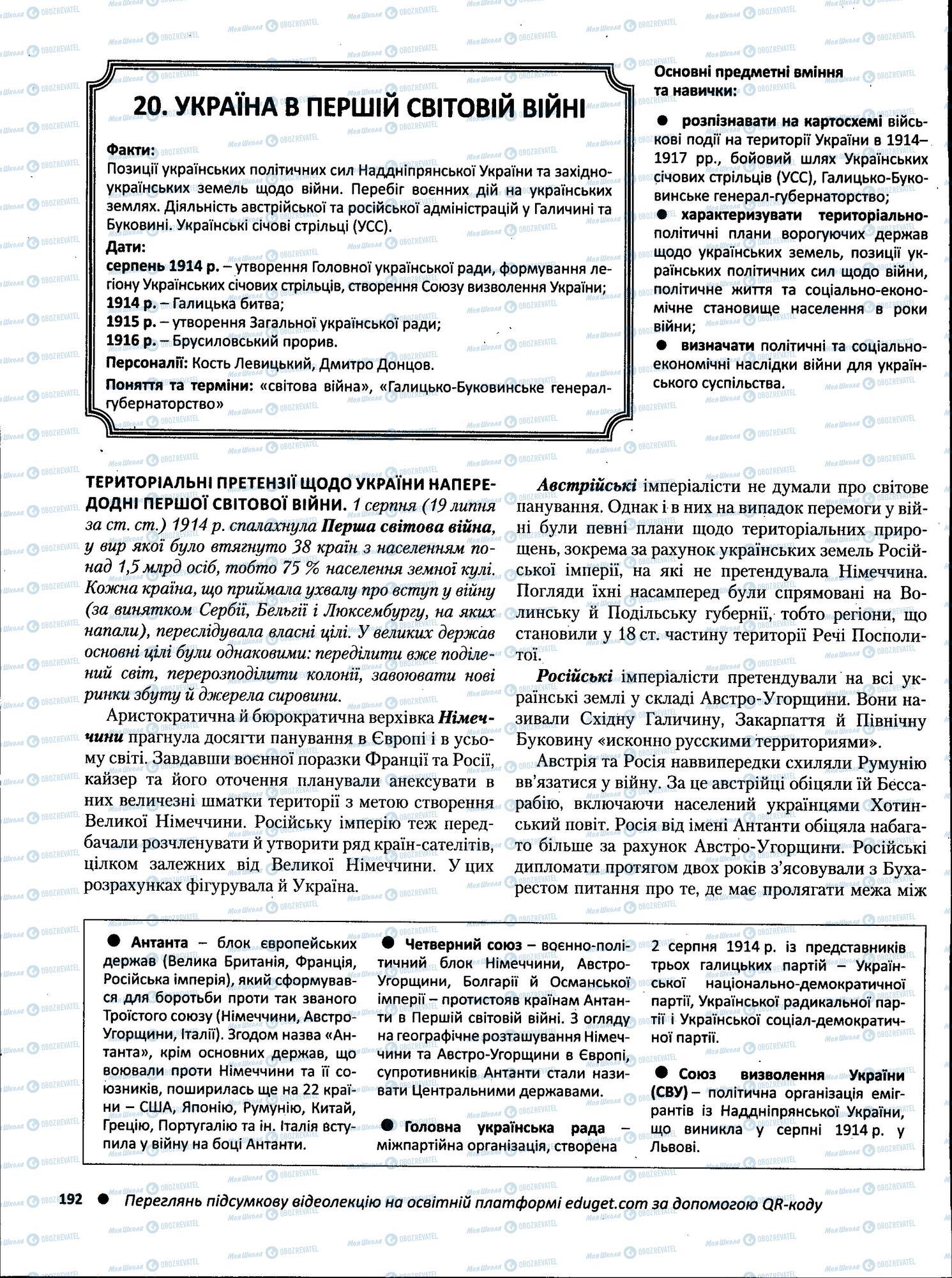 ЗНО Історія України 11 клас сторінка  1