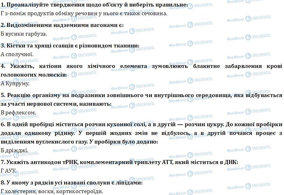 ДПА Біологія 9 клас сторінка  1-8