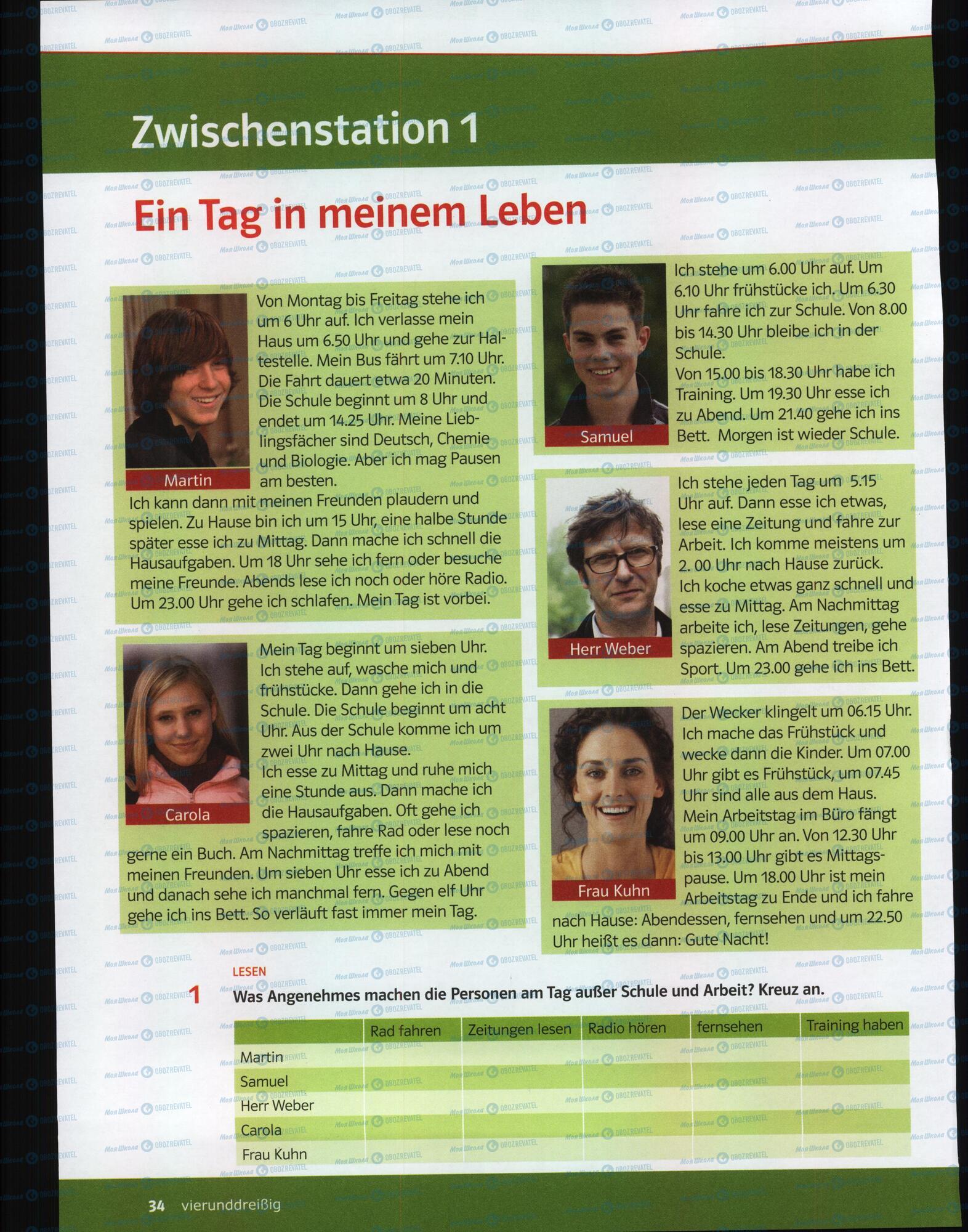 Учебники Немецкий язык 6 класс страница 32