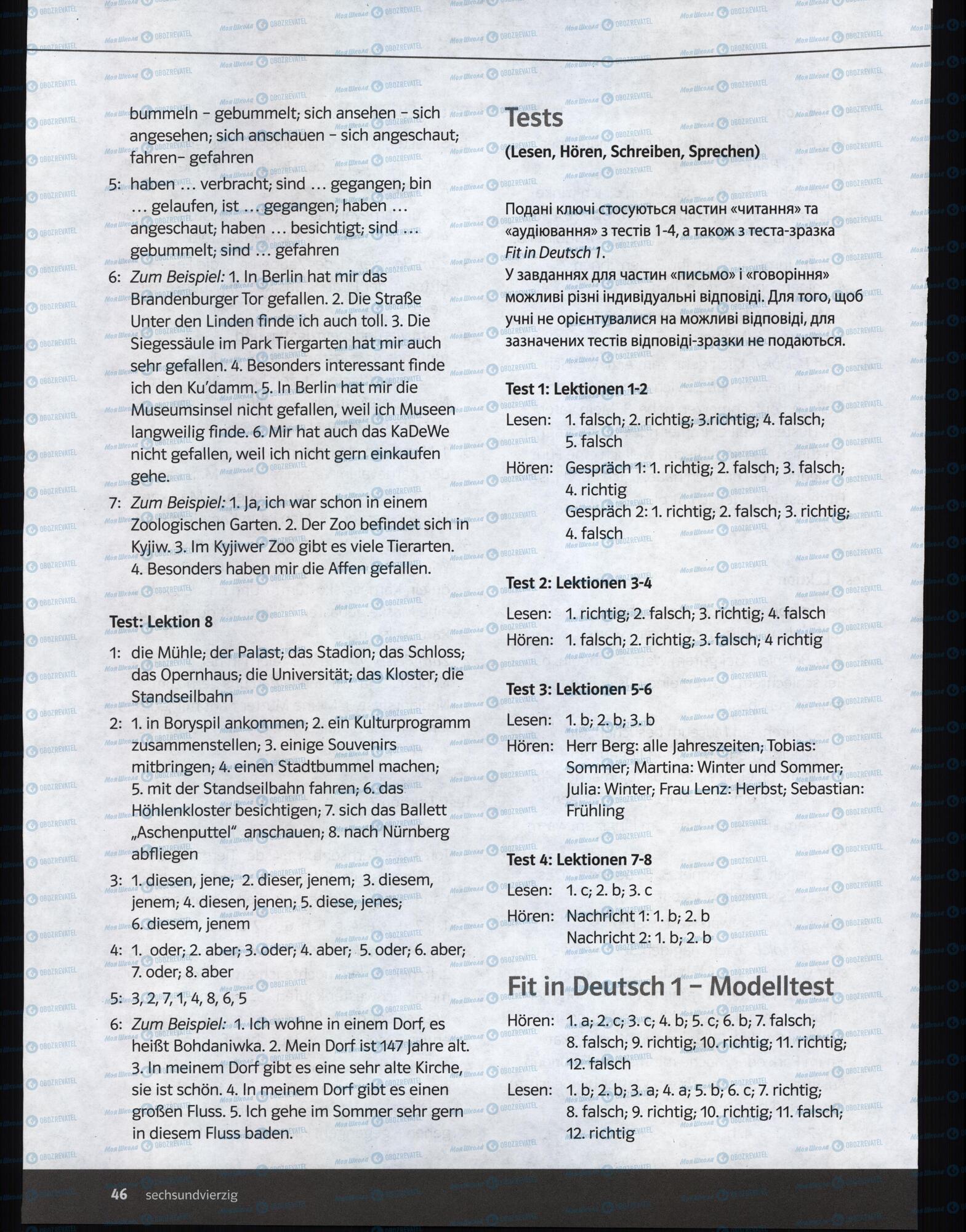 Учебники Немецкий язык 6 класс страница 46
