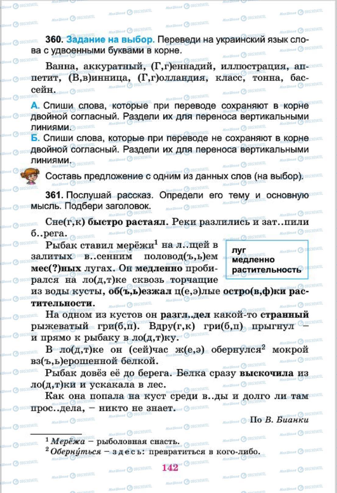 Учебники Русский язык 4 класс страница  142