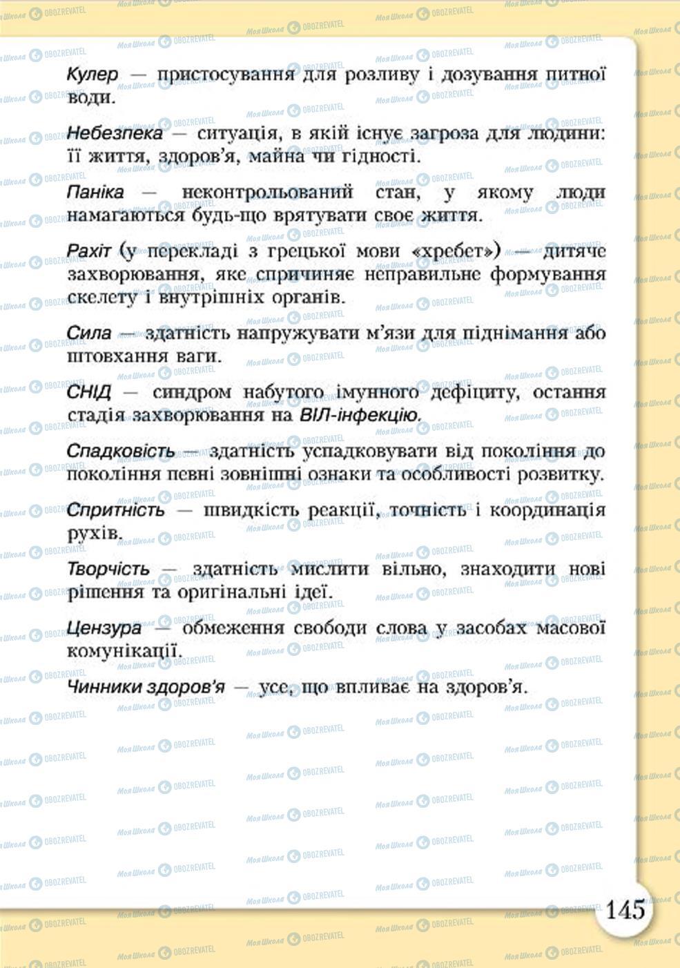 Учебники Основы здоровья 4 класс страница 145
