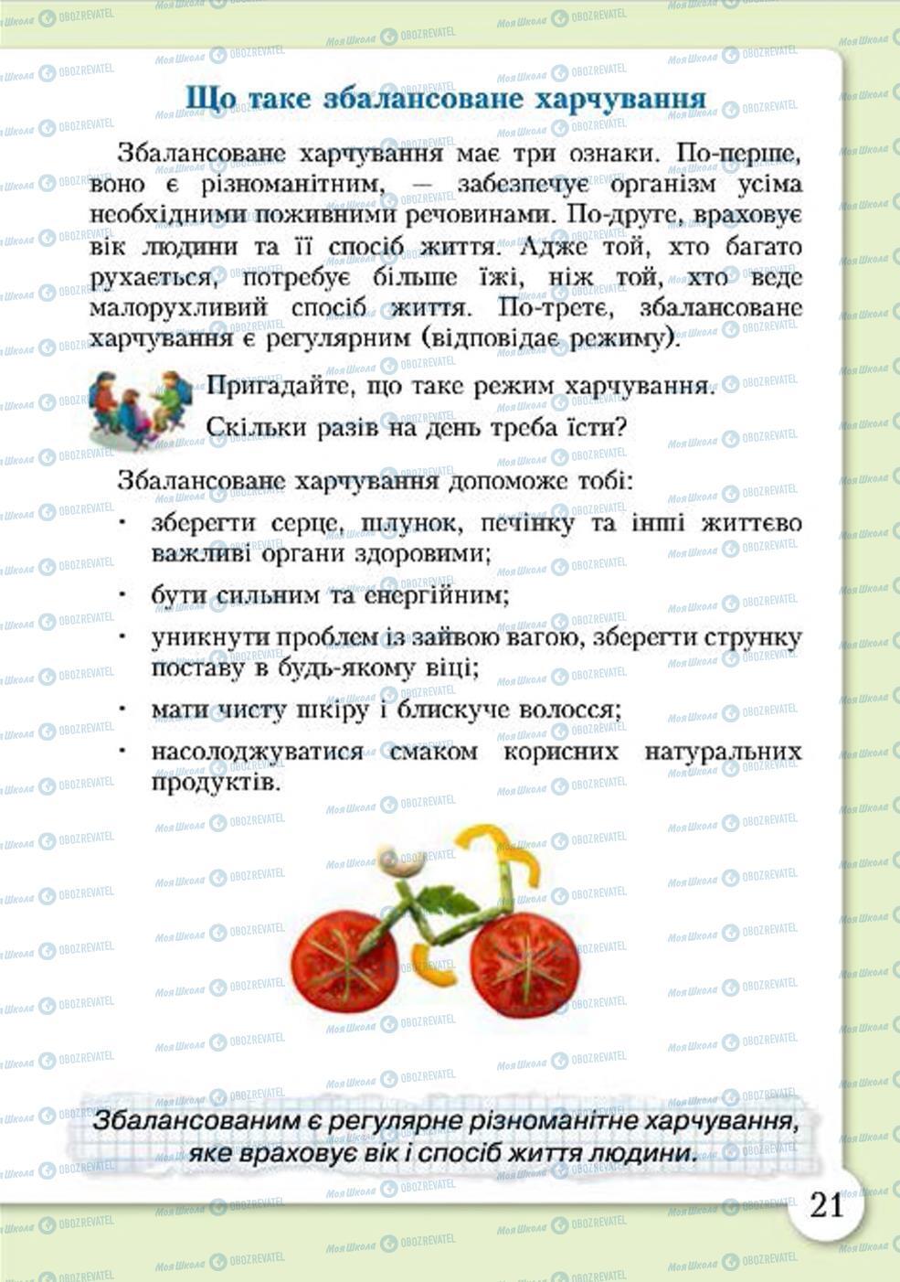 Учебники Основы здоровья 4 класс страница 21
