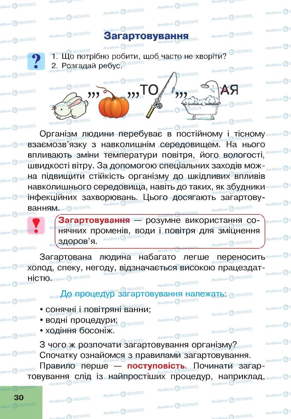 Учебники Основы здоровья 4 класс страница 30