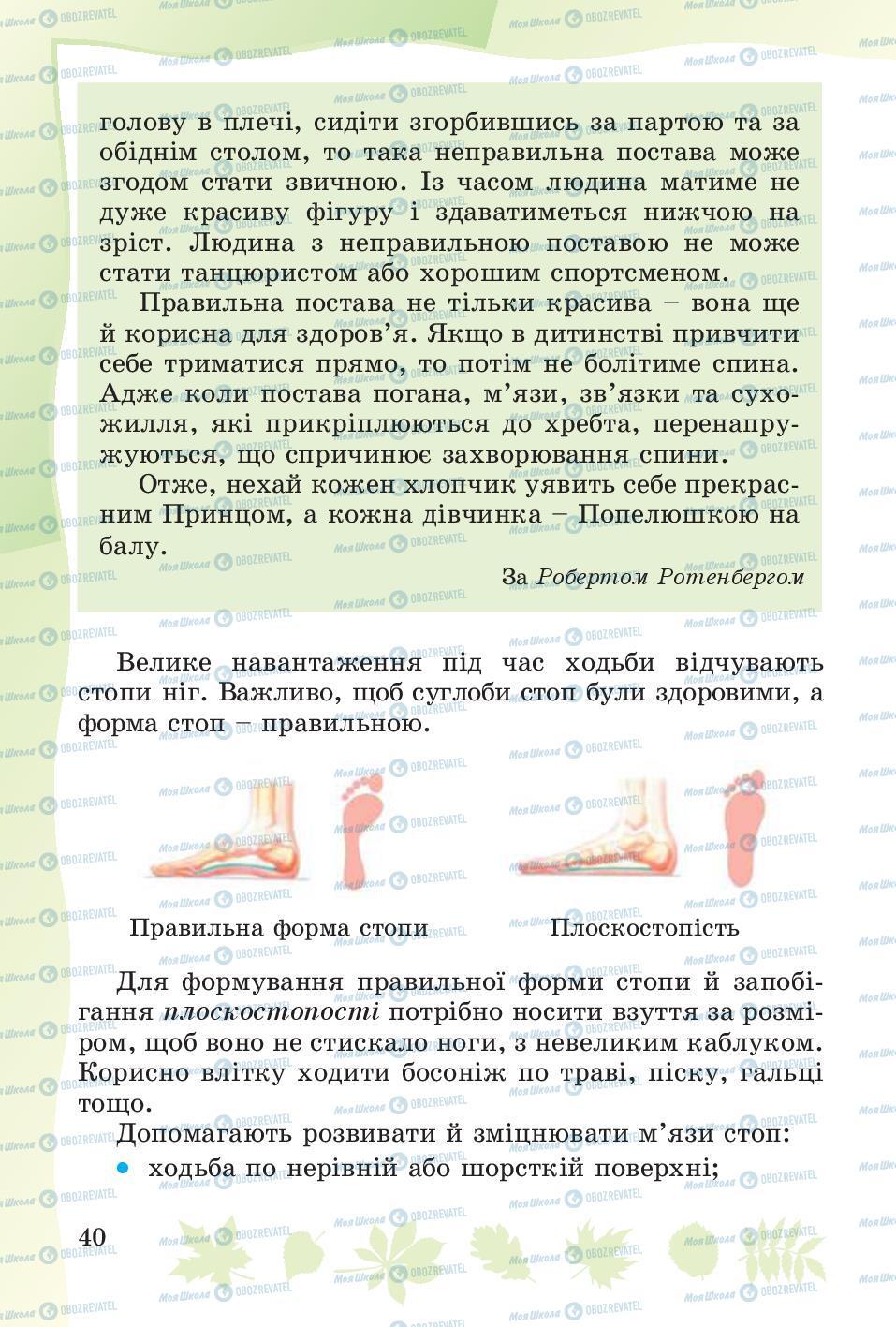 Учебники Основы здоровья 4 класс страница 40