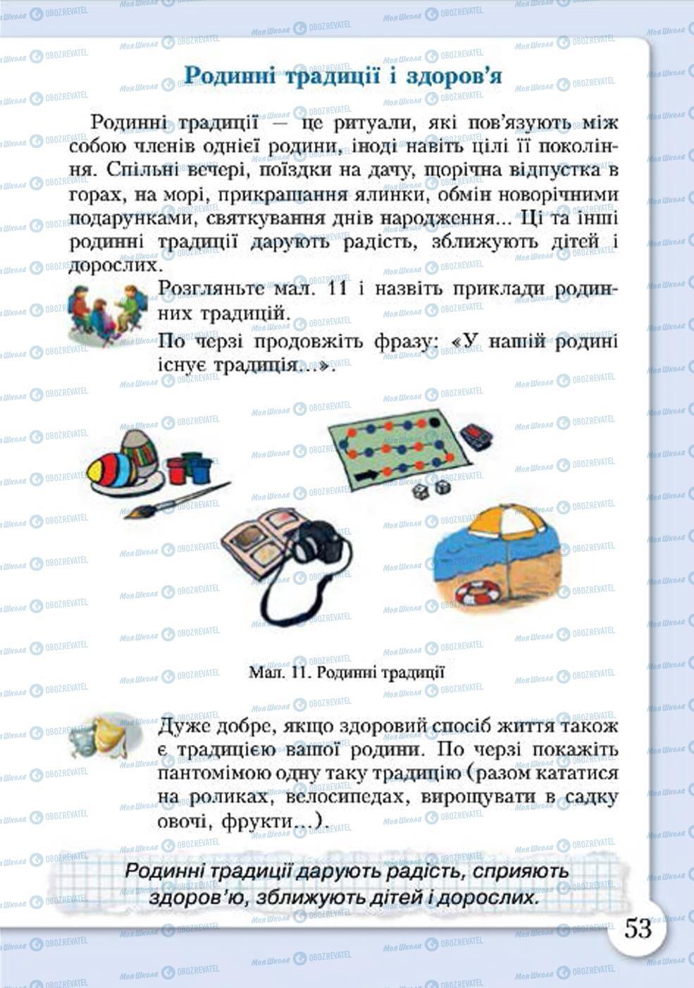 Учебники Основы здоровья 4 класс страница 53