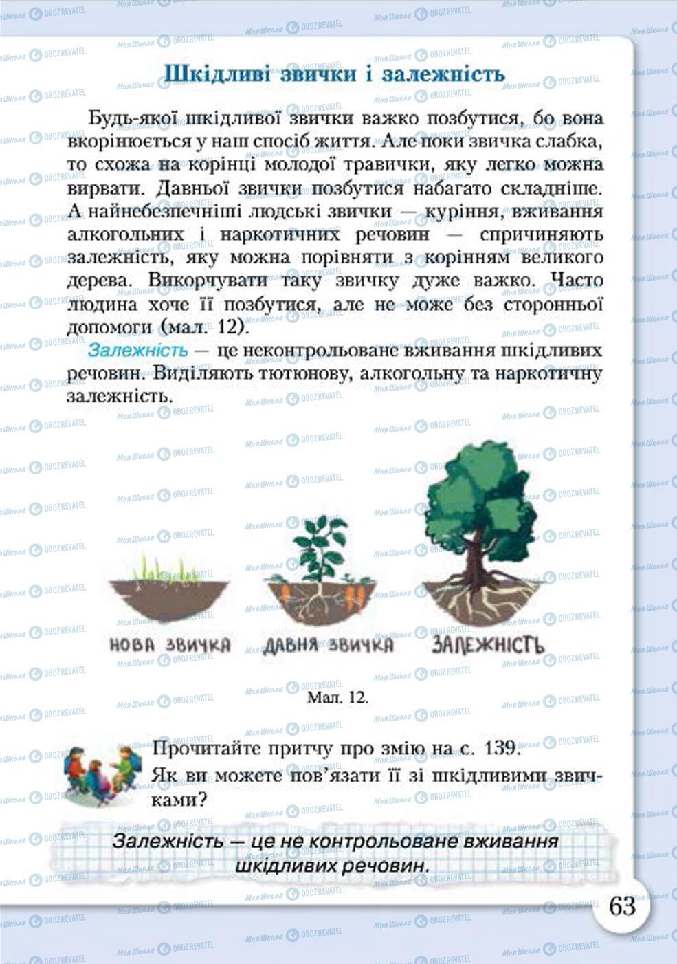Учебники Основы здоровья 4 класс страница 63