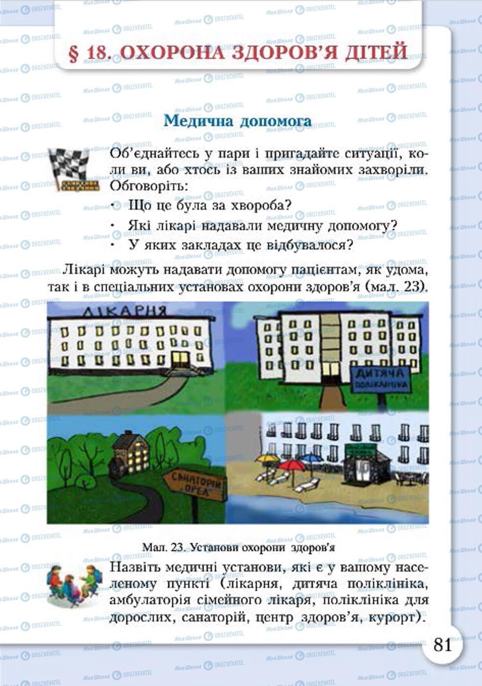 Учебники Основы здоровья 4 класс страница 81