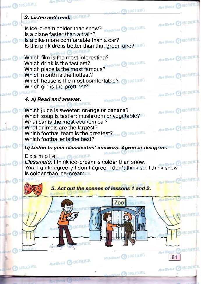 Підручники Англійська мова 4 клас сторінка 81