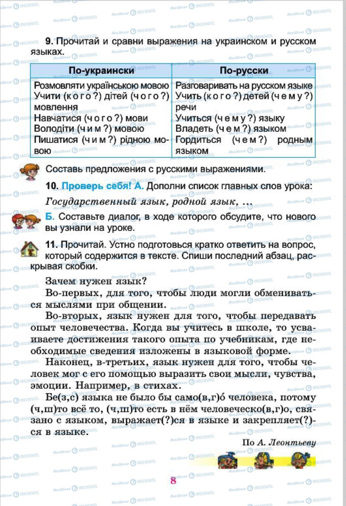 Учебники Русский язык 4 класс страница 8