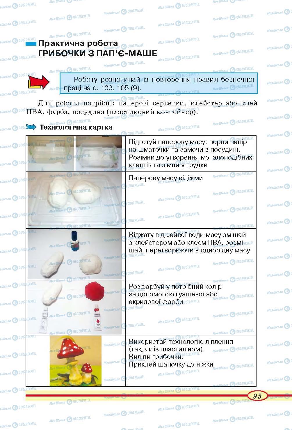Учебники Трудовое обучение 4 класс страница 95