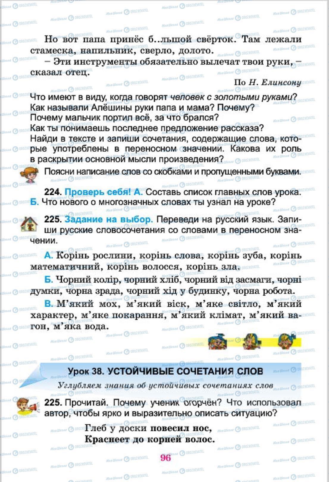 Учебники Русский язык 4 класс страница 96