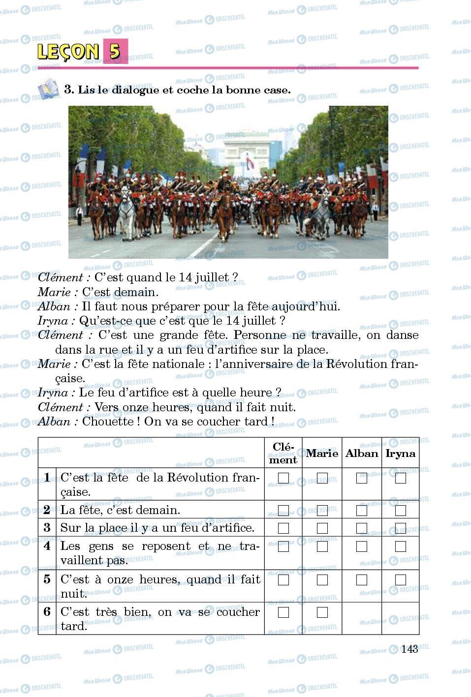 Підручники Французька мова 5 клас сторінка 143