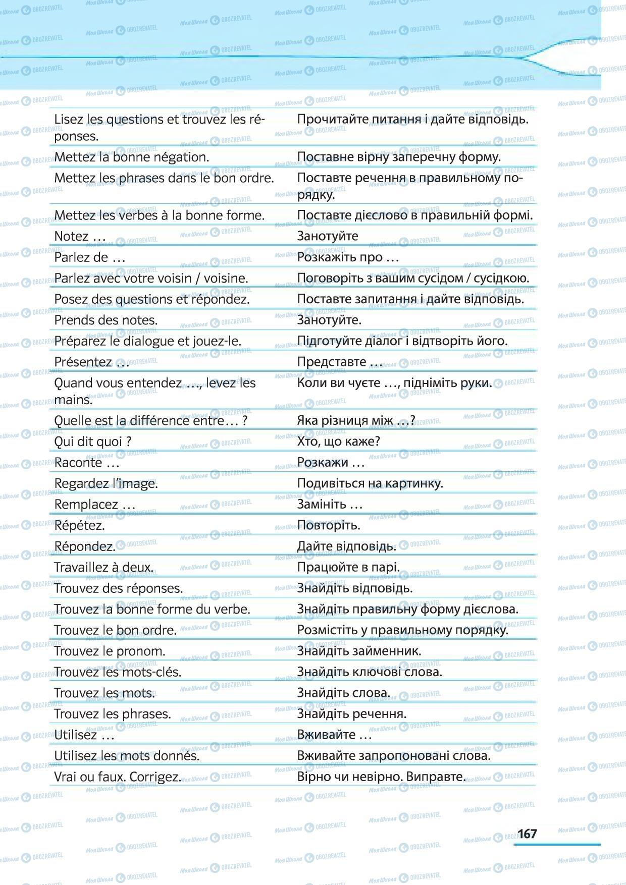 Підручники Французька мова 5 клас сторінка 167