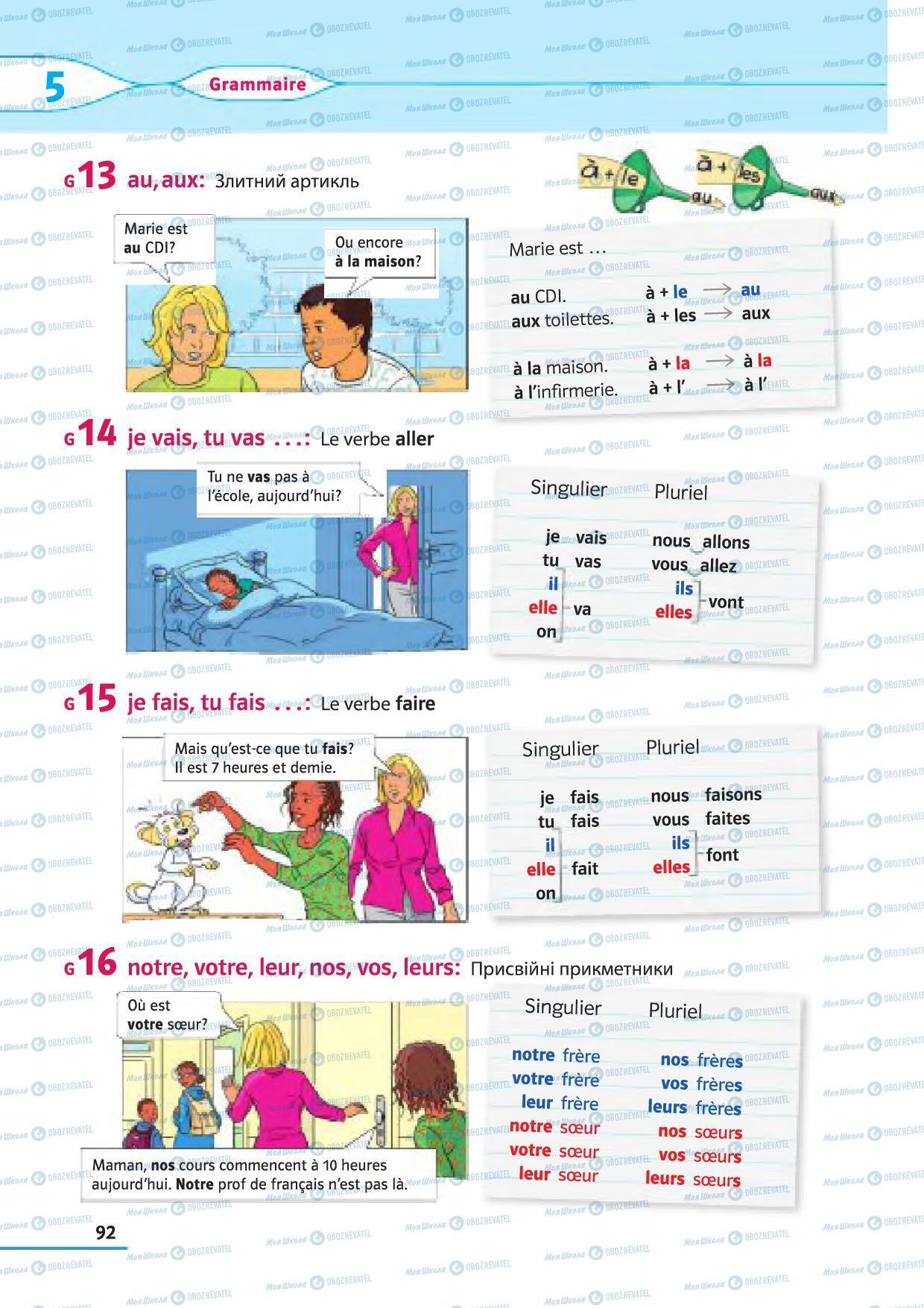 Підручники Французька мова 5 клас сторінка 92