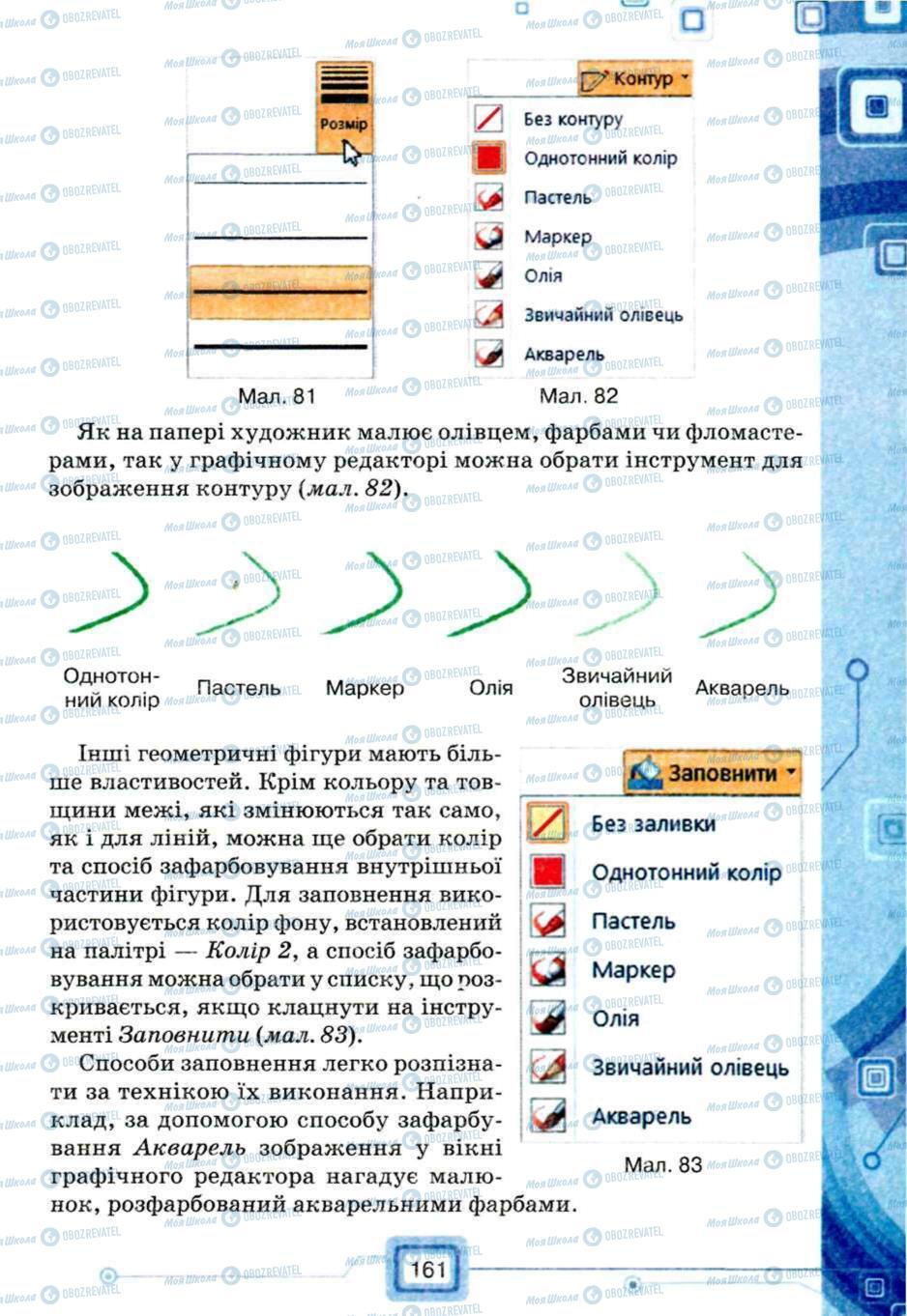 Підручники Інформатика 5 клас сторінка 161