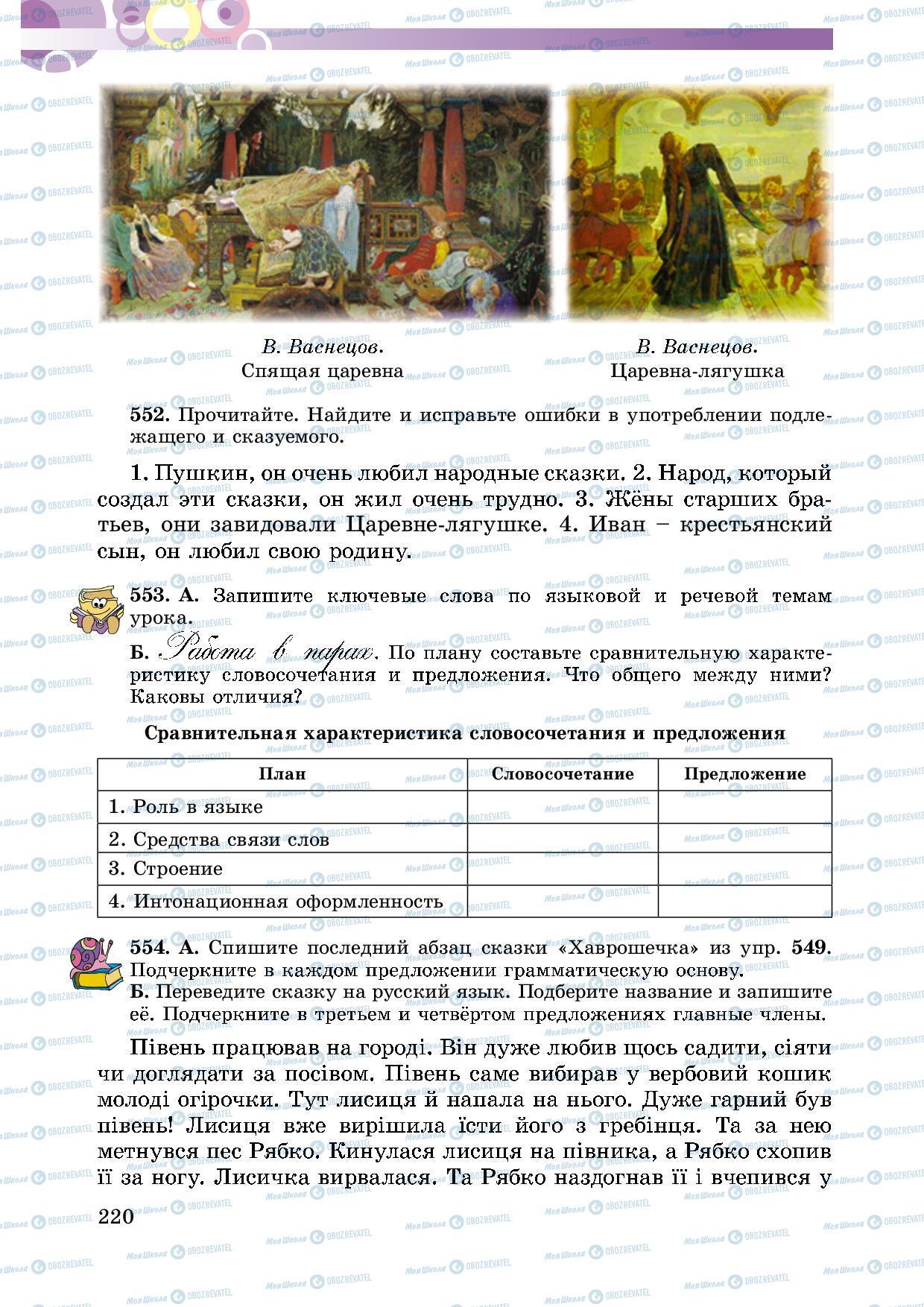 Учебники Русский язык 5 класс страница 220