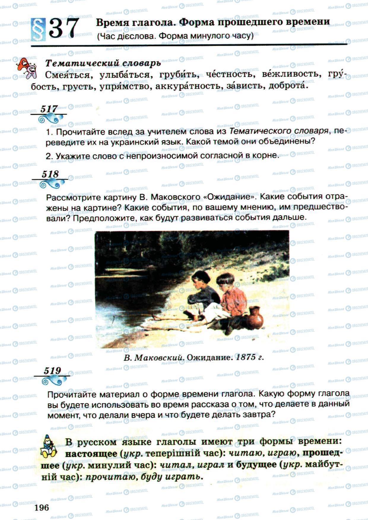 Учебники Русский язык 5 класс страница 196