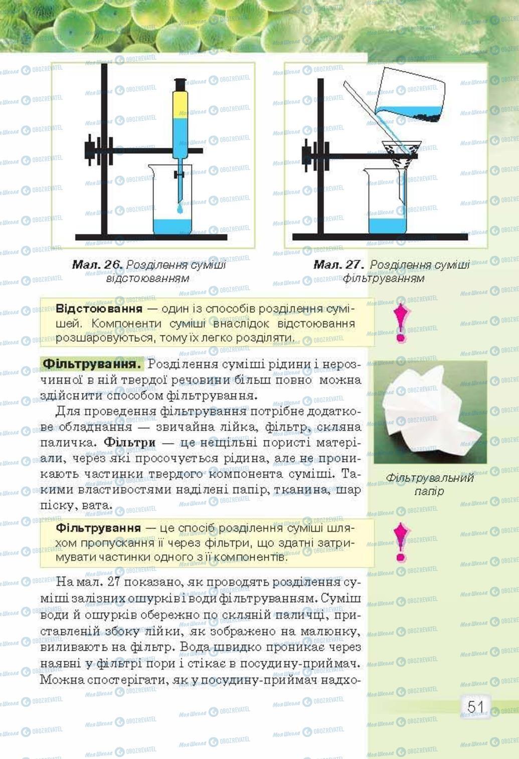 Підручники Природознавство 5 клас сторінка 51
