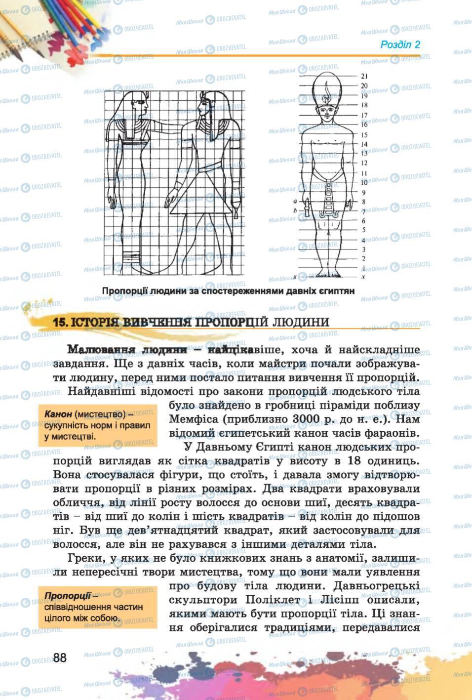 Підручники Образотворче мистецтво 6 клас сторінка  88